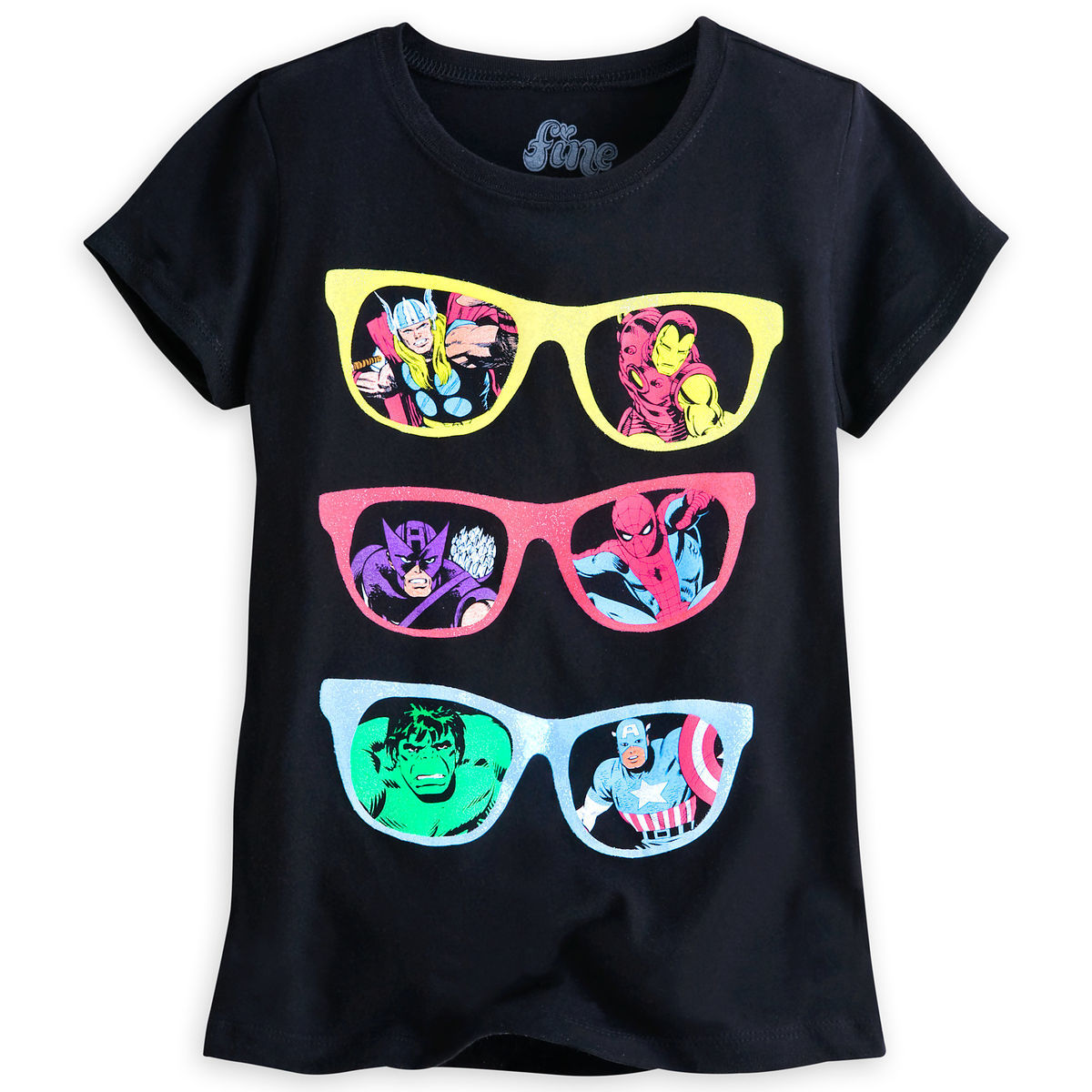 8840c9008eb Product Image of Marvel Comics Super Heroes Tee for Girls by Mighty Fine   1