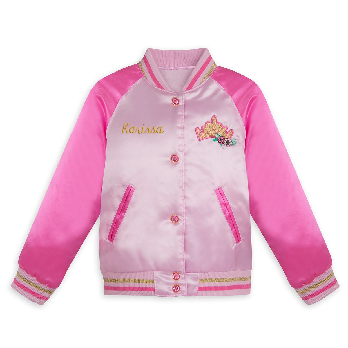 81a43f3a273 Product Image of Disney Princess Varsity Jacket for Girls - Personalizable    1
