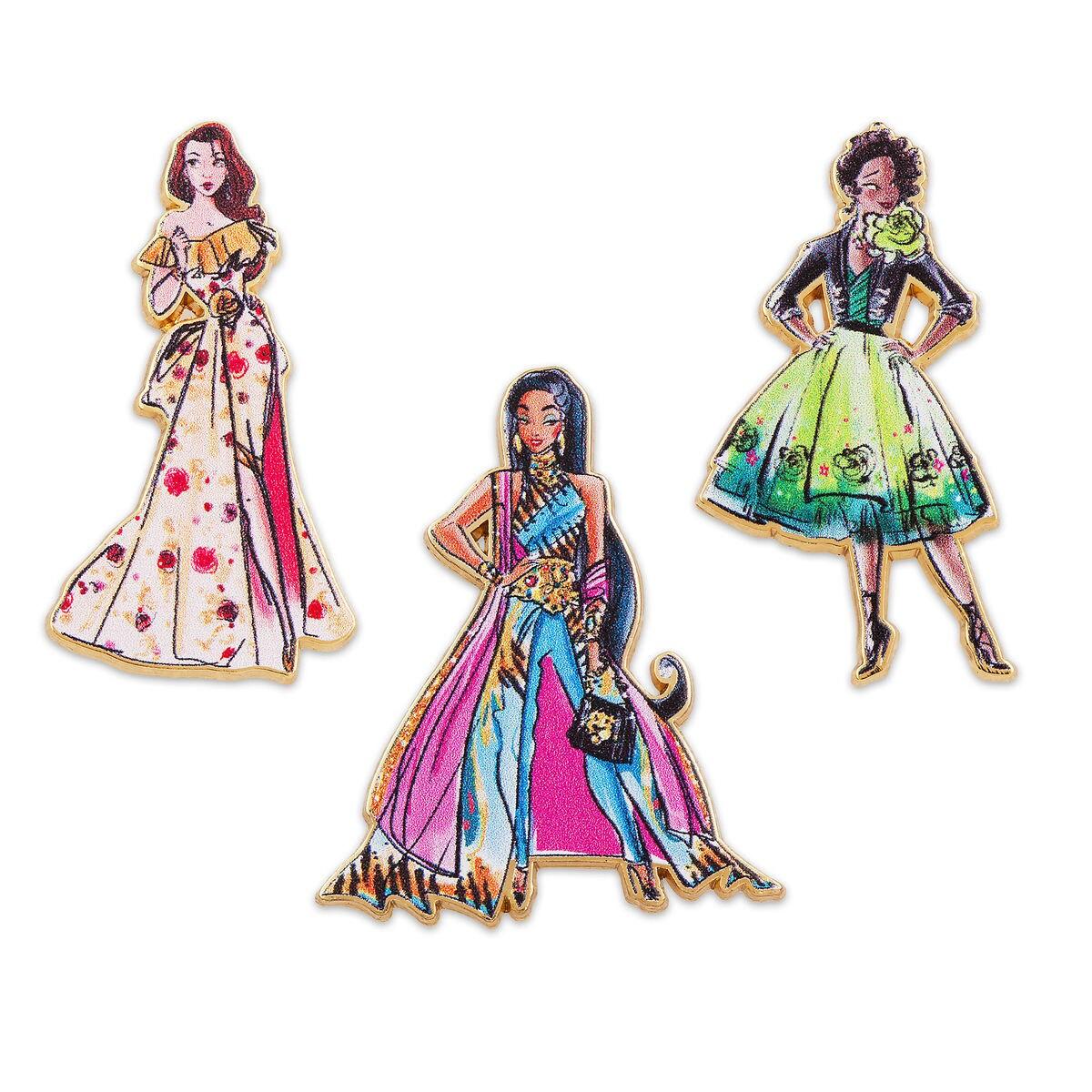 Disney Princess Pin Set - Disney Designer Collection - Set Two ...
