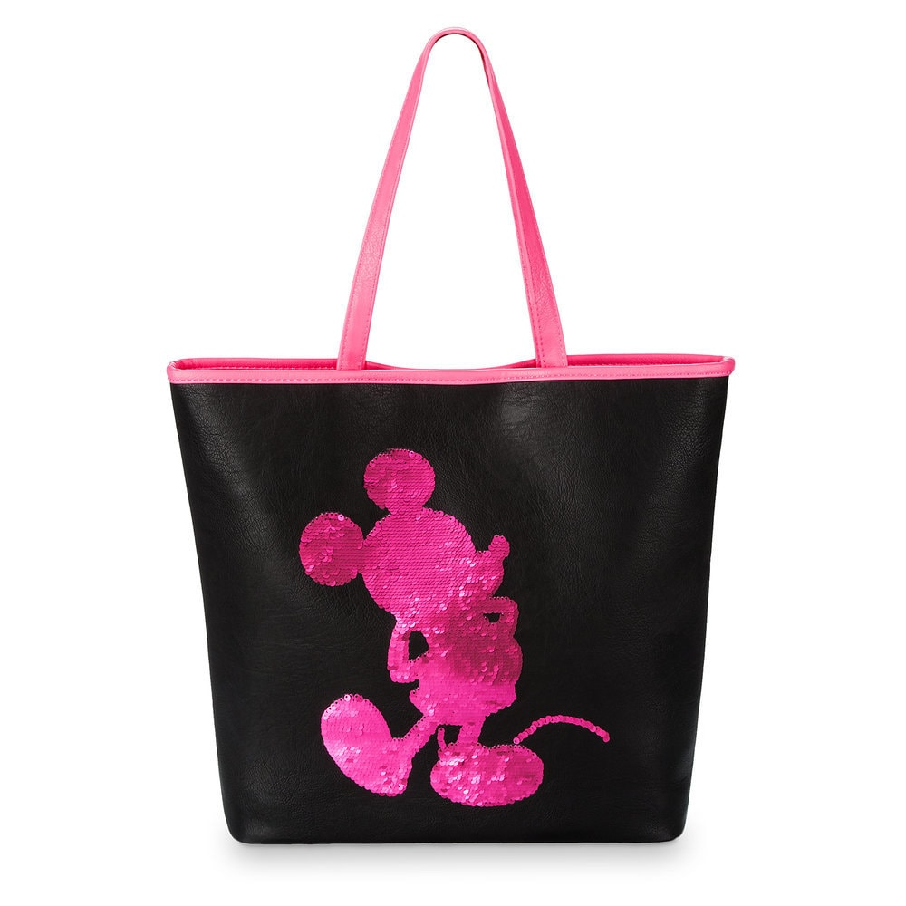 Mickey Mouse Imagination Pink Reversible Sequin Tote by Loungefly Official shopDisney