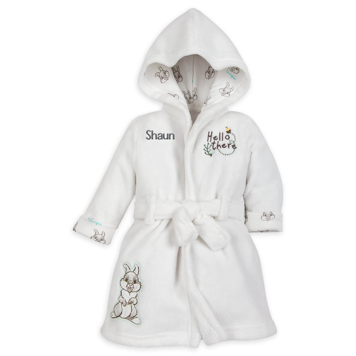 d9169fd0bd6c Thumper Hooded Bath Robe for Baby - Personalizable