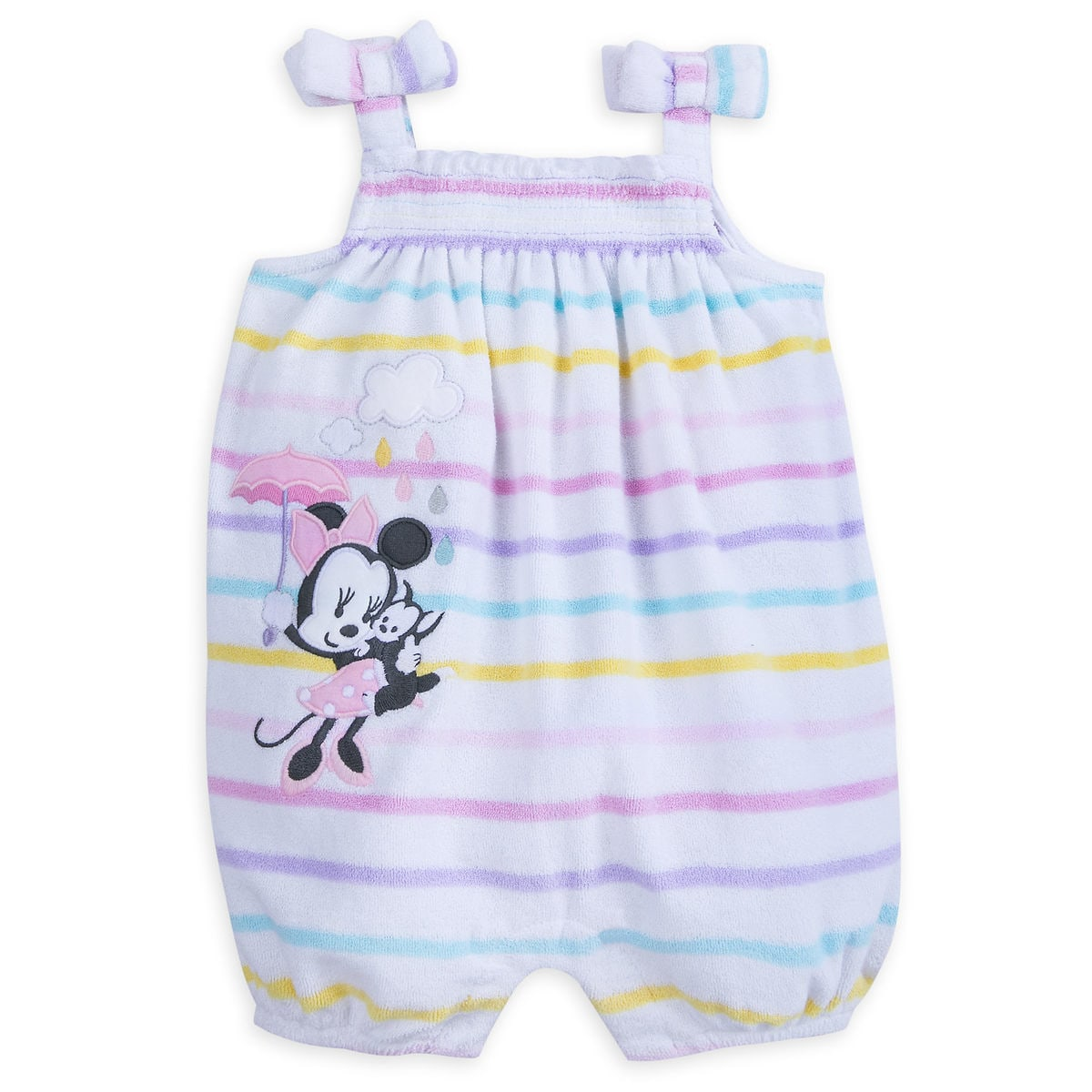 54904b38b01 Product Image of Minnie Mouse Layette Bubble Romper for Baby   1
