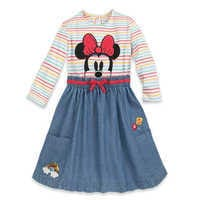 Image of Minnie Mouse Dress and Headband Set for Girls # 3