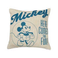 Mickey Mouse ''here Comes The Fun'' Throw Pillow by Disney