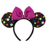 Image of Minnie Mouse Multi-Color Polka Dot Ear Headband # 1