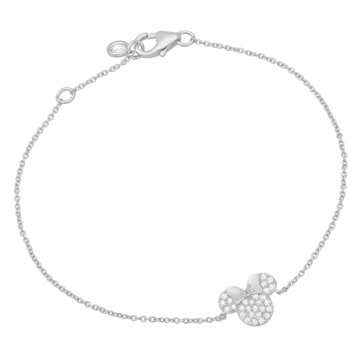 ae9eabe0c Product Image of Minnie Mouse Icon Bracelet by CRISLU - Platinum # 1