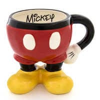 Image of Mickey Mouse Half Mug # 1