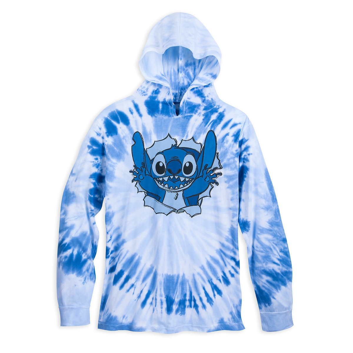 8a4341a35a61 Product Image of Stitch Long Sleeve Hooded Tie-Dye T-Shirt for Adults #