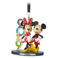 Image of Mickey and Minnie Mouse Figural Ornament - Disneyland 2019 # 1