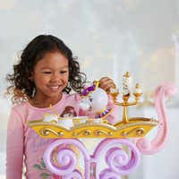 Image of Beauty and the Beast ''Be Our Guest'' Singing Tea Cart Play Set # 2