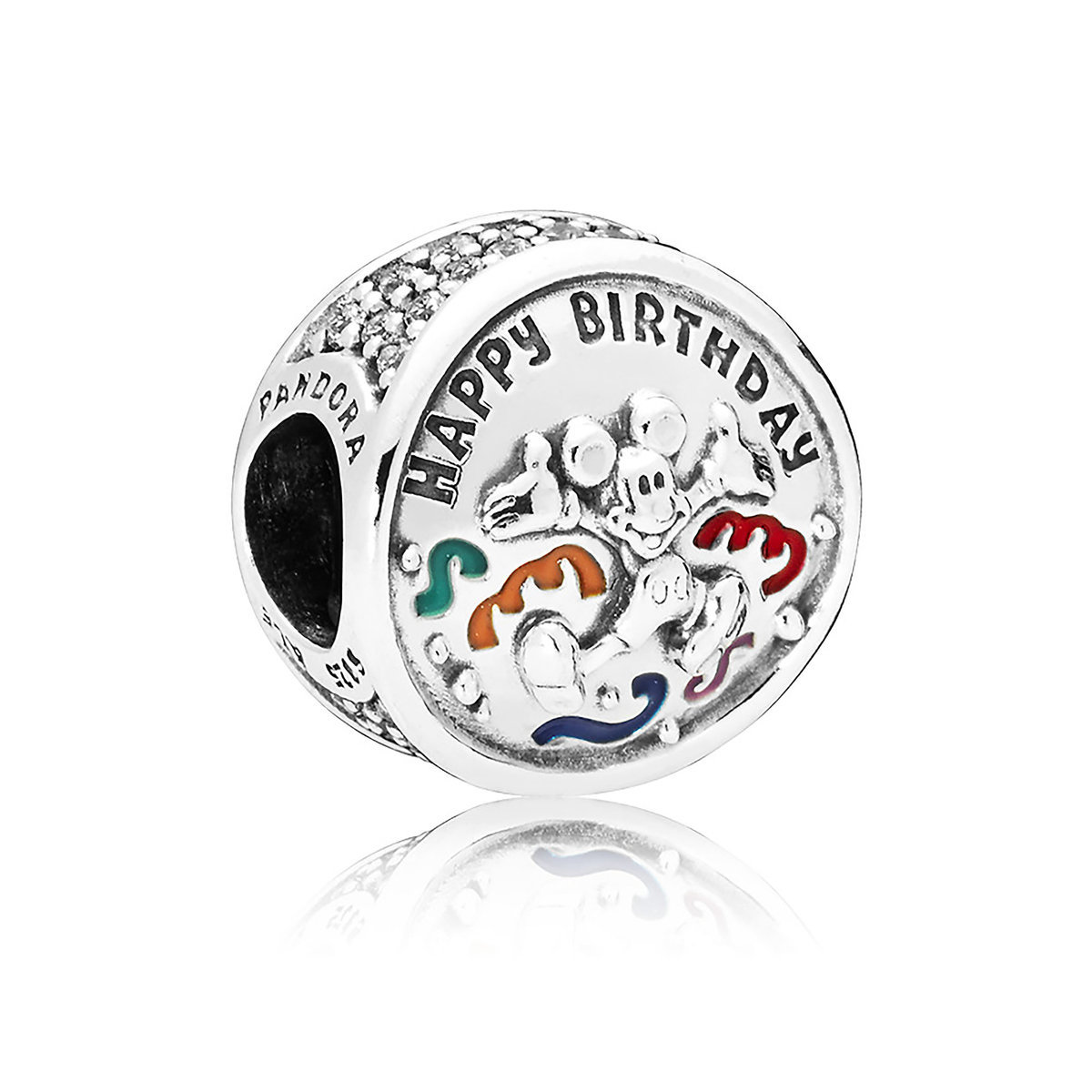 c06668044 Product Image of Mickey Mouse Happy Birthday Charm by Pandora Jewelry # 1