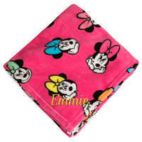 Image of Minnie Mouse Fleece Throw - Personalizable # 1