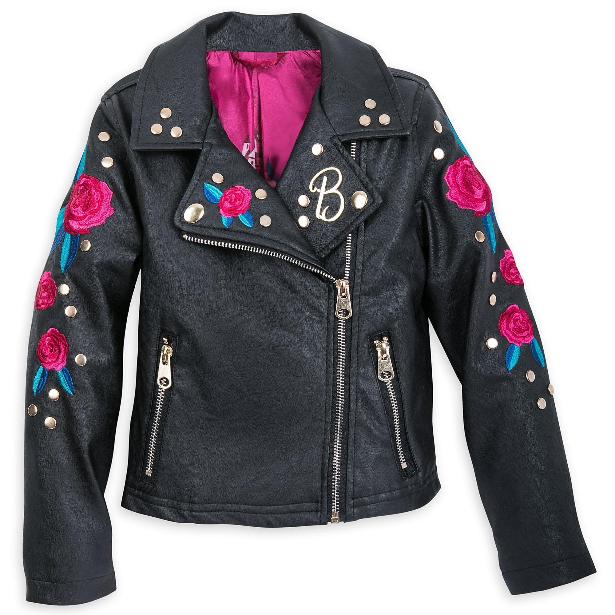 Belle Simulated Leather Jacket for Girls - Beauty and the Beast