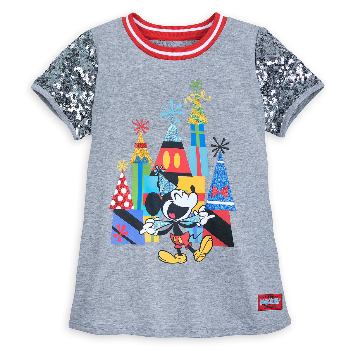 00a5eb2cfa1c Product Image of Mickey Mouse Celebration Sequin T-Shirt for Girls -  Disneyland # 1