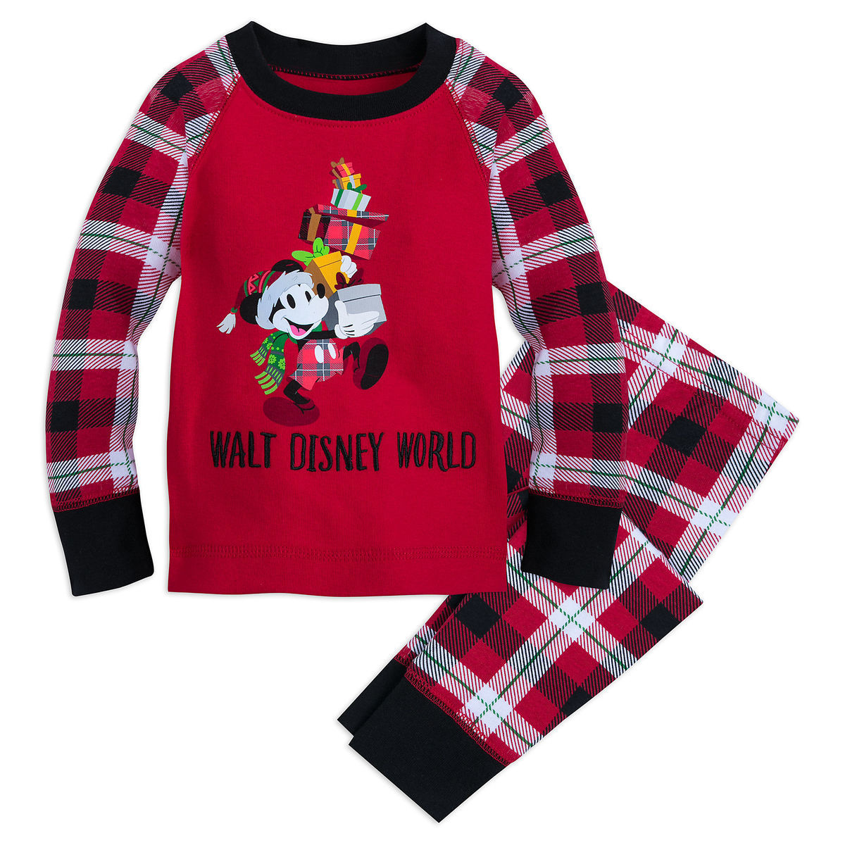 14a32c8a8 Santa Mickey Mouse Holiday Pajama Set for Kids - Walt Disney World ...