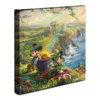 Image of ''Mickey and Minnie in Ireland'' Gallery Wrapped Canvas by Thomas Kinkade Studios # 2