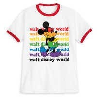 Image of Rainbow Disney Collection Mickey Mouse Ringer T-Shirt for Kids - Walt Disney World # 1