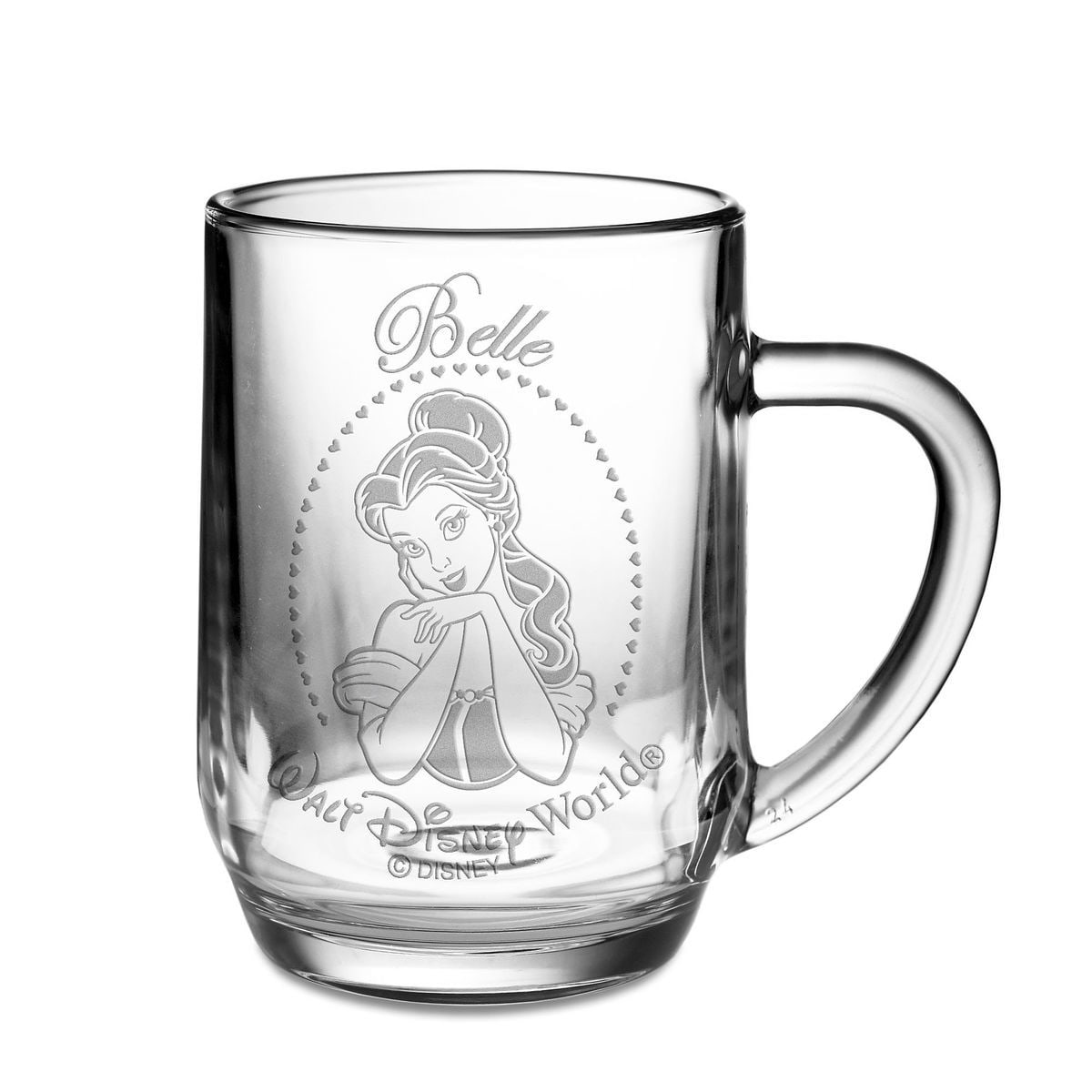 belle glass mug by arribas personalizable shopdisney
