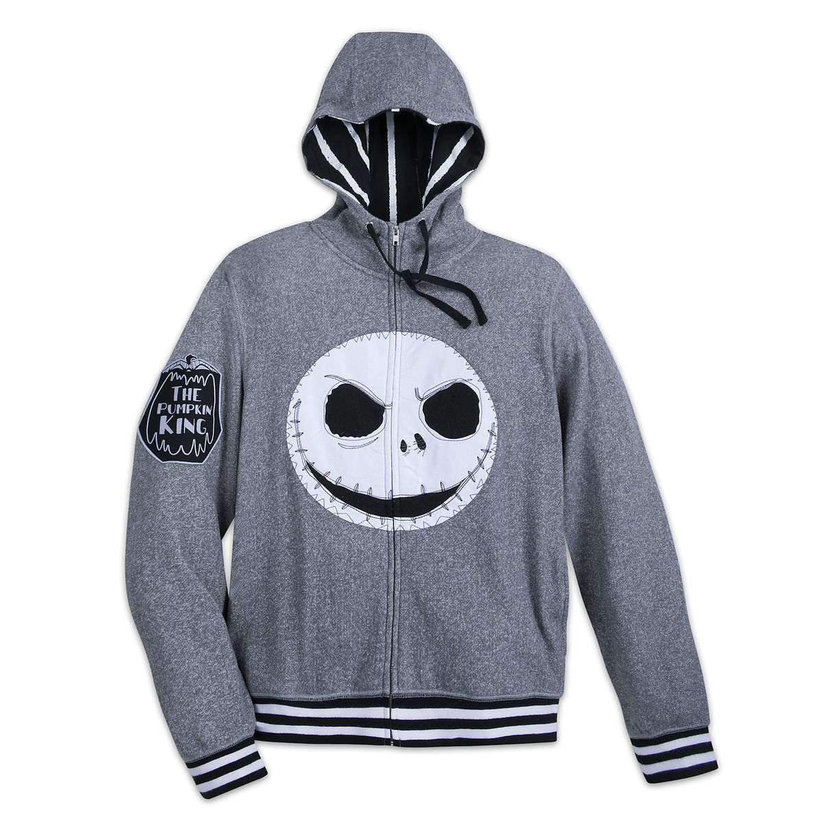 Jack Skellington Fleece Zip Hoodie for Adults - Nightmare Before ...