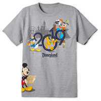 Image of Mickey Mouse and Friends T-Shirt for Adults - Disneyland 2019 # 1