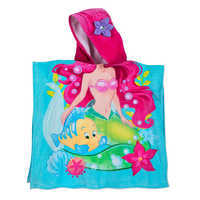 Image of Ariel and Flounder Hooded Towel for Kids # 2