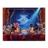 Image of ''90 Years of Mickey'' Gallery Wrapped Canvas by Thomas Kinkade Studios # 1