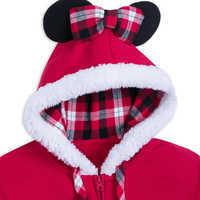 Image of Santa Minnie Mouse Zip Hoodie for Women # 3