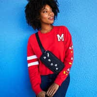 Image of Mickey Mouse Cropped Pullover for Women # 4