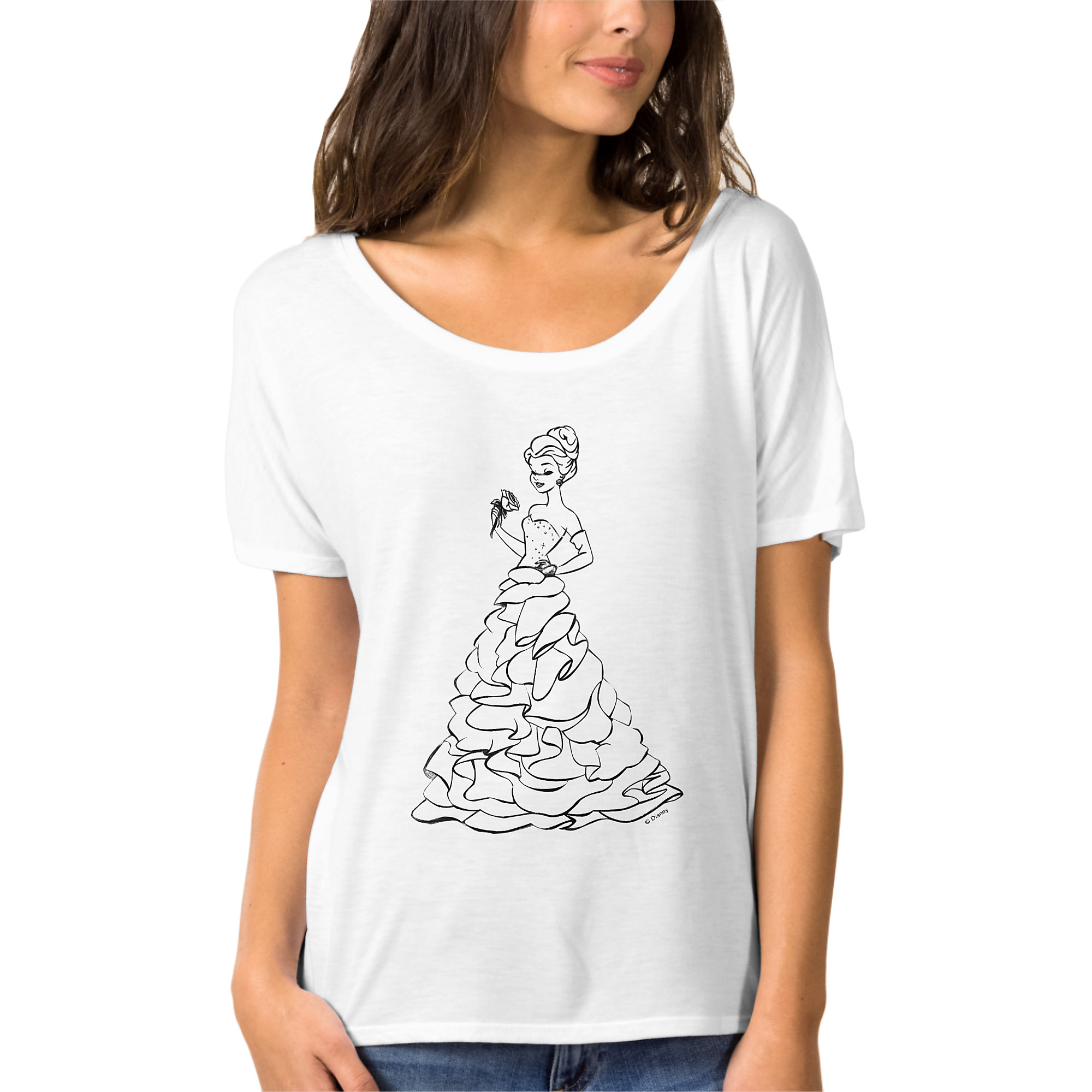 Belle T-Shirt for Women - Art of Princess Designer Collection
