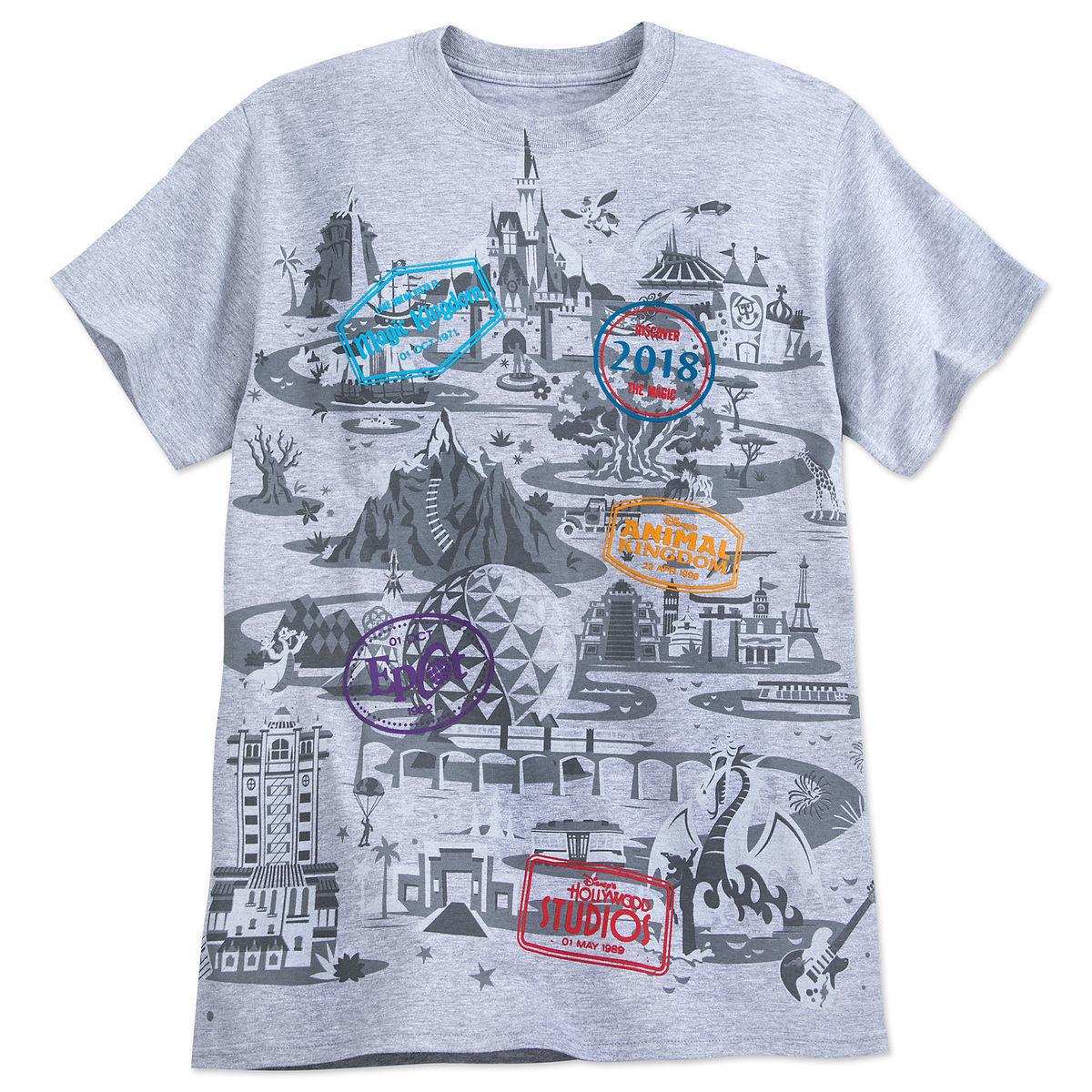 Walt Disney World Map With Hotels.Walt Disney World Map T Shirt For Adults 2018 Shopdisney