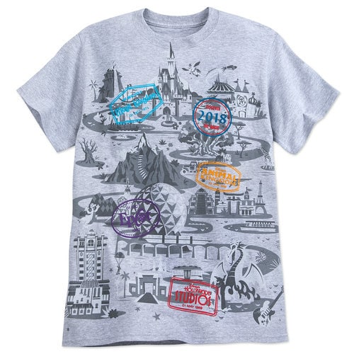 Walt Disney World Map T Shirt For Adults 2018 Shopdisney