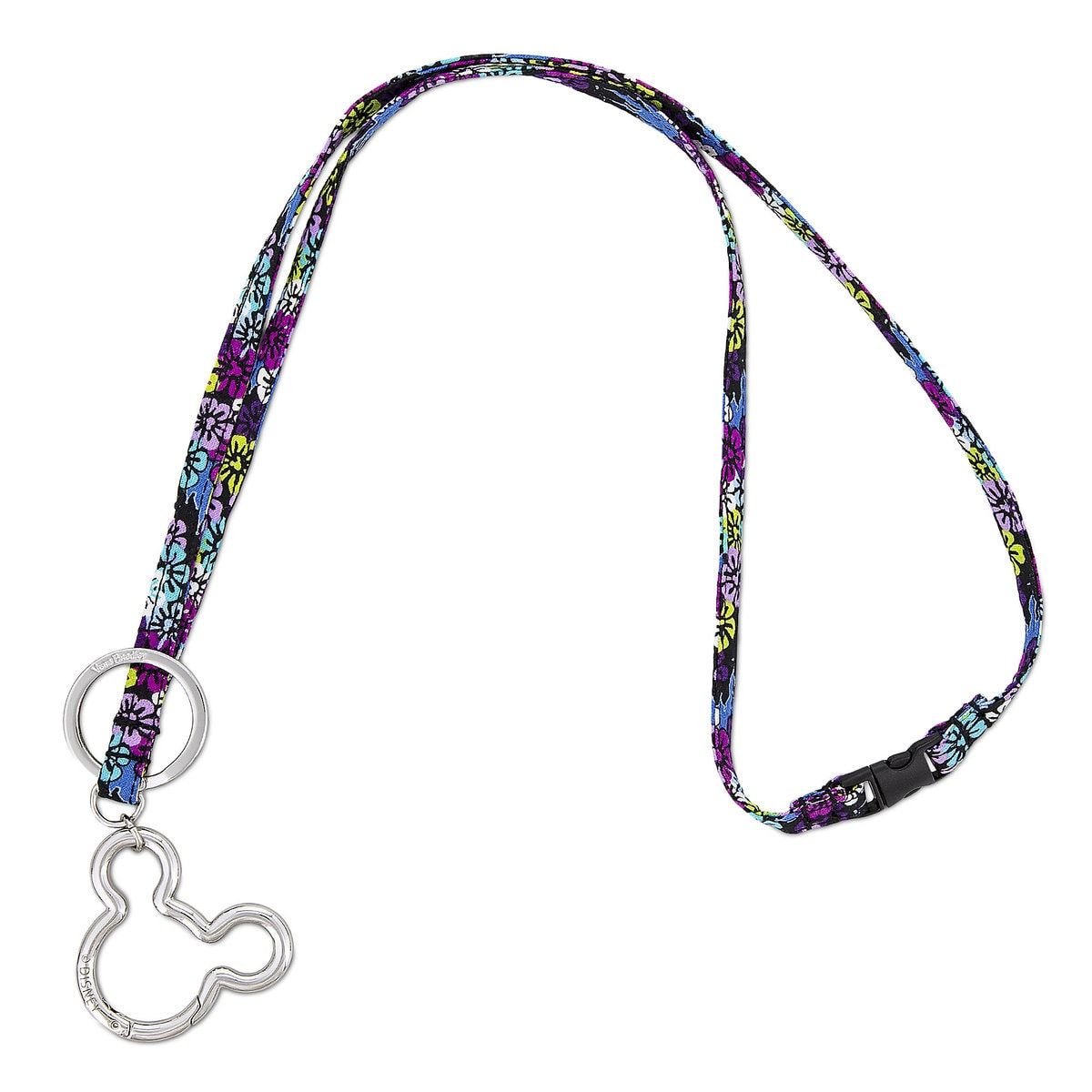 Vera Bradley Mickey and Minnie Paisley Lanyard