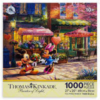 Image of Mickey and Minnie Mouse Sweetheart Cafe Puzzle by Thomas Kinkade # 2