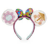 Image of Minnie Mouse Sequined Ear Headband with Satin Bow - Disney it's a small world # 2