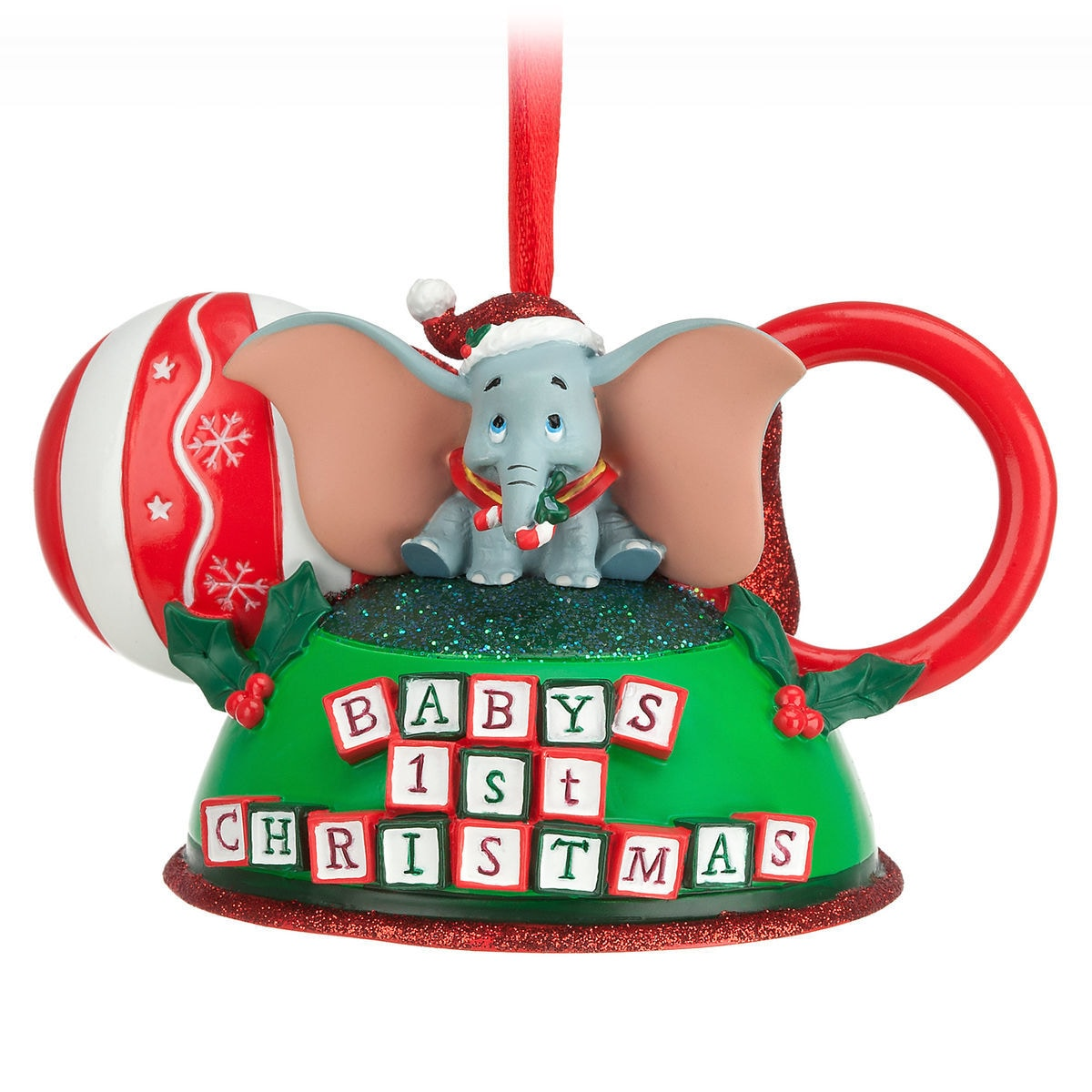 product image of dumbo babys first christmas ear hat ornament 1