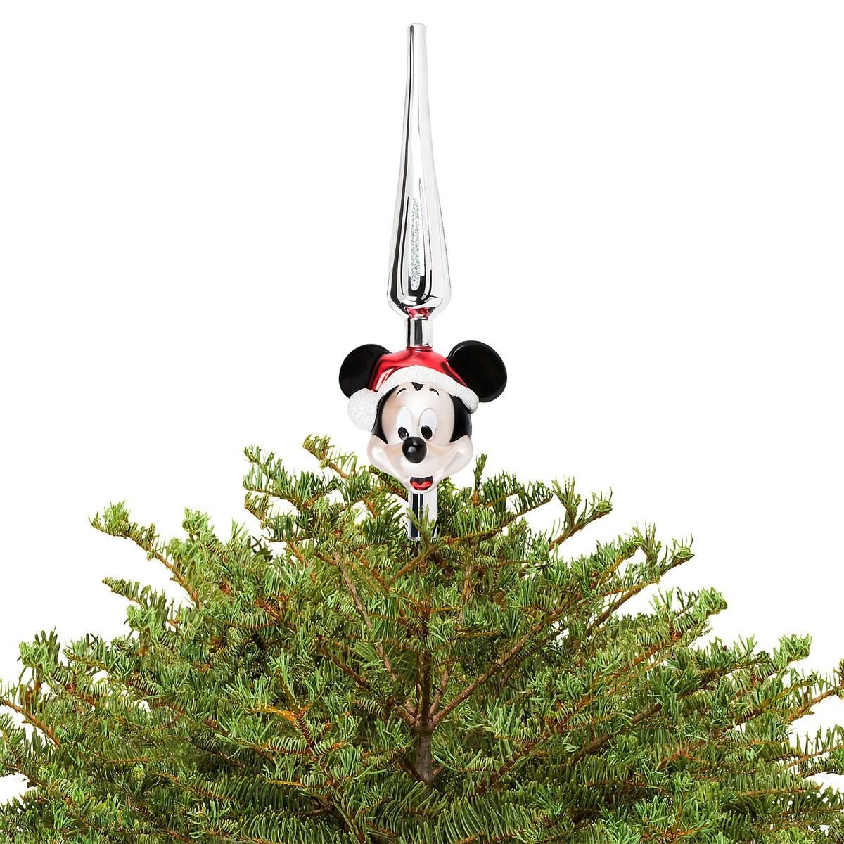 Santa Mickey Mouse Glass Tree Topper ShopDisney - Mickey Mouse Christmas Tree Topper