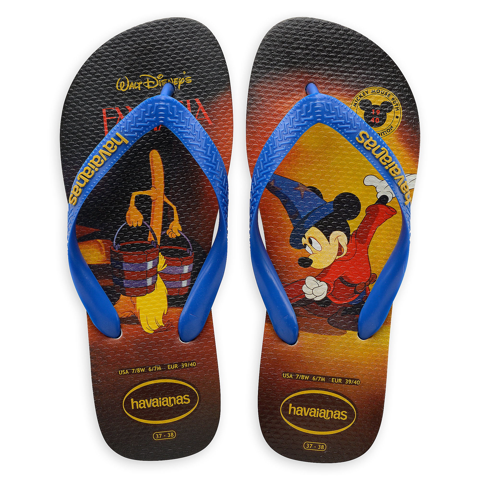 f234141b77e5a Sorcerer Mickey Mouse Flip Flops for Adults by Havaianas - 1940s is ...