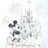 Image of Mickey Mouse Cinderella Castle Zip Hoodie for Women - Walt Disney World # 3