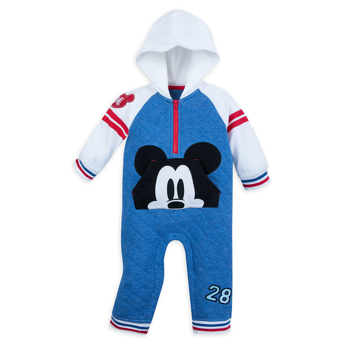 742ab261e34c Product Image of Mickey Mouse Hooded Romper for Baby   1