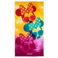 Image of Minnie Mouse Beach Towel - Personalizable # 1