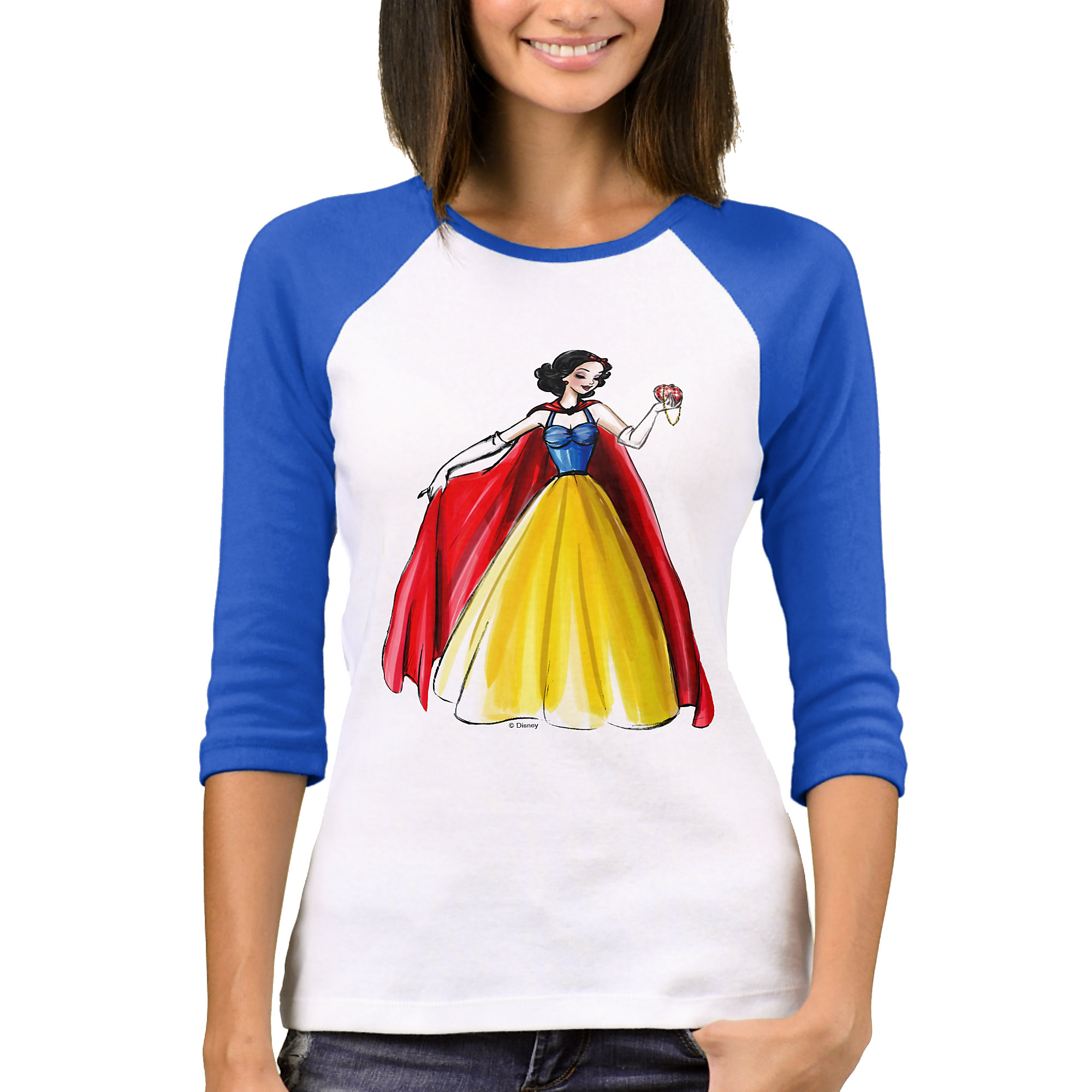 Snow White Raglan T-Shirt - Art of Princess Designer Collection