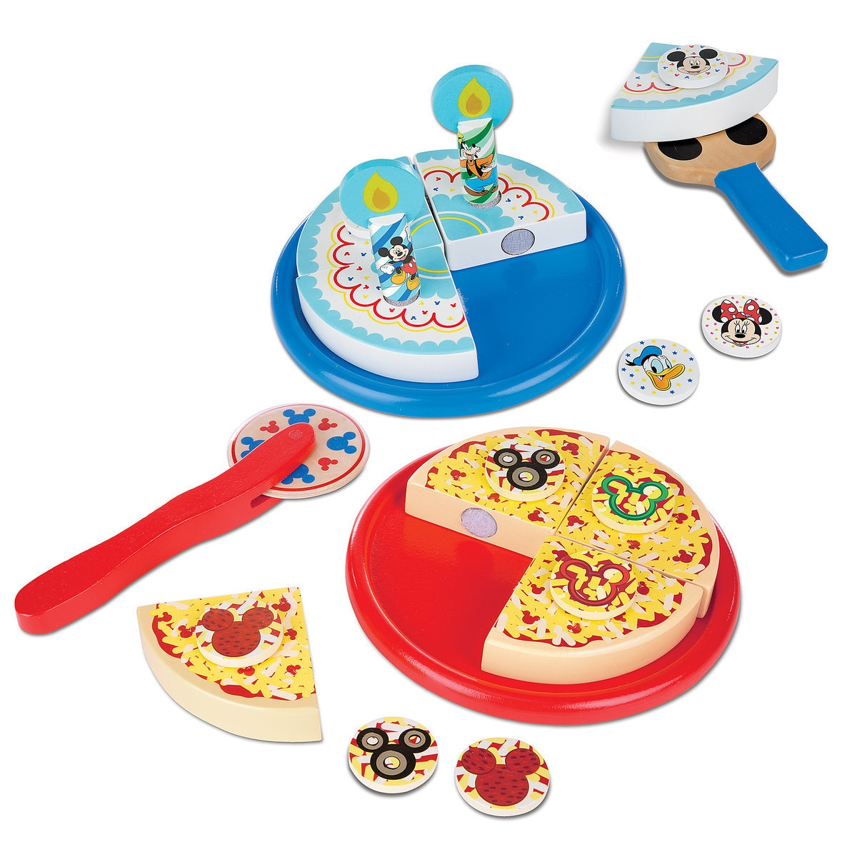 Mickey Mouse Clubhouse Wooden Pizza Birthday Cake Set By Melissa