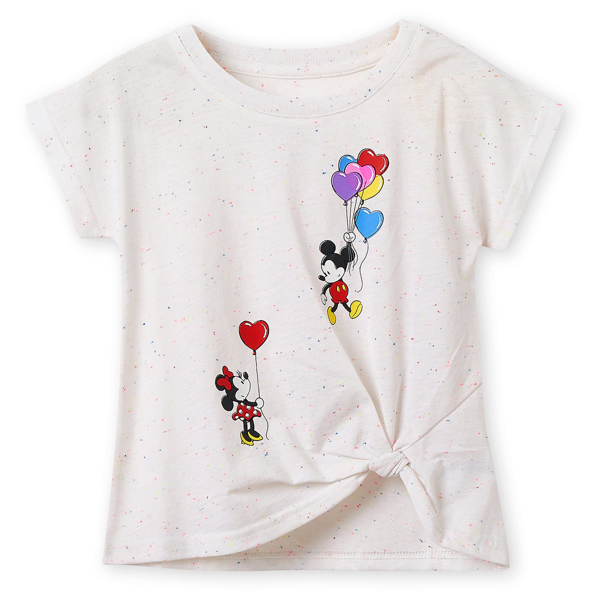 d95d0afe Product Image of Mickey and Minnie Mouse Balloons T-Shirt for Girls # 1