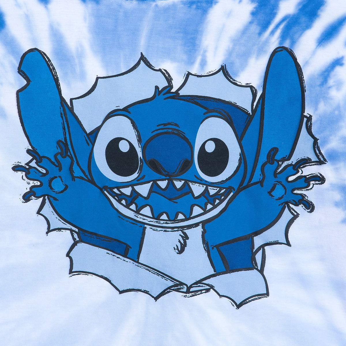 stitch long sleeve hooded tie dye t shirt for adults shopdisney