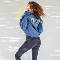 Image of Ariel Chambray Bomber Jacket for Women - Oh My Disney # 3