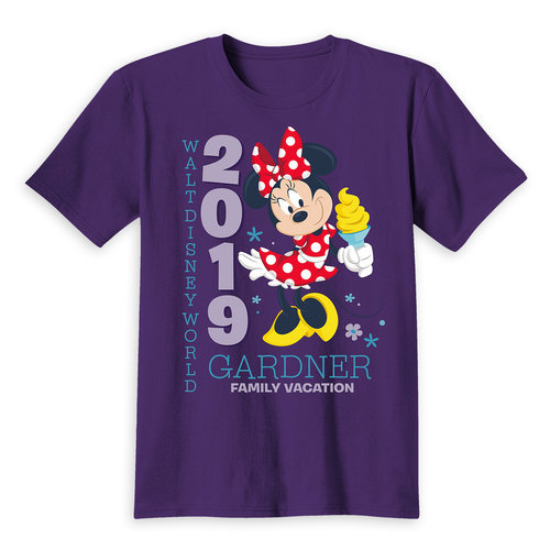 Minnie Mouse Family Vacation T-Shirt for Kids - Walt Disney World 2019 - Customized