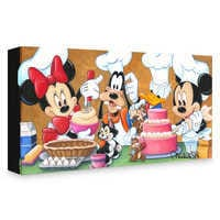 Image of Mickey Mouse and Friends ''Happy Kitchen'' Giclée on Canvas by Michelle St. Laurent # 1