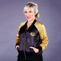 Star Wars 40th Anniversary Satin Varsity Jacket for Women by Her Universe