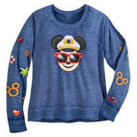 Image of Captain Mickey Mouse Emoji Pullover Top - Disney Cruise Line - Women # 1