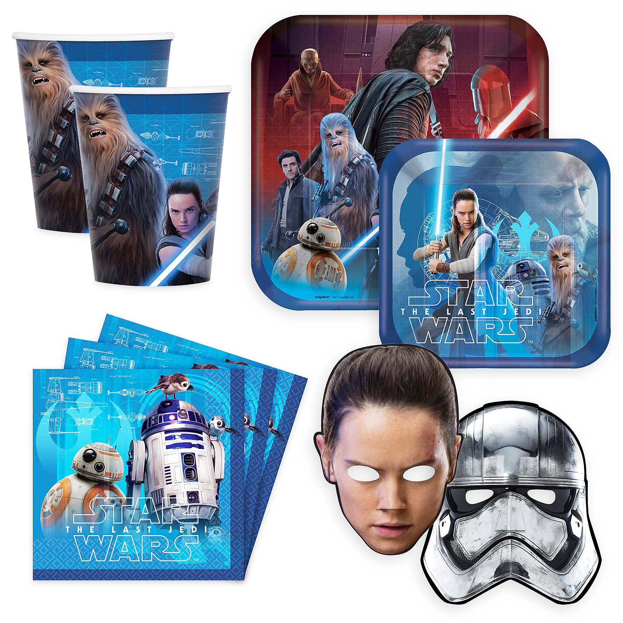Star Wars The Last Jedi Disney Party Collection